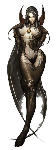 Chalandra in all her vampiric.....glory.