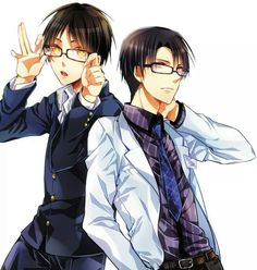 Eren and Levi Rock the glasses bae's