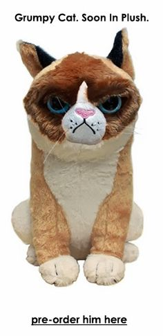 Grumpy Cat in plush, available September, 2013 -  pre-order at entertainmentearth.com $20 !!