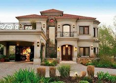 Mediterranean style dream home love it! :)