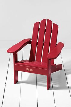 Lands' End Kids' Adirondack Chair - Personalize it with your child's name. Made in the USA.