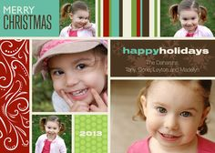 Holiday Fun Christmas Photo Cards - photoaffections.com