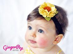 Fall Felt Flower Headband  100 Handmade with by GingerpopBoutique
