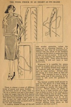 "The Midvale Cottage Post: Home Sewing Tip from the 1920s - Some ""Seam-ly"" Advice"