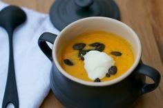 sweet potato soup with toasted pumpkin seeds | Lisa Hjalt
