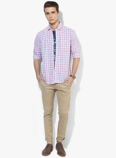 157908ca467 Buy CODE by Lifestyle Red Checked Slim Fit Casual Shirt Online - 4337073 -  Jabong
