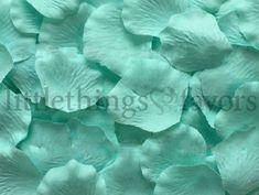 Mint Green Silk Rose Petals Cool Mint Green #mintgreen #wedding