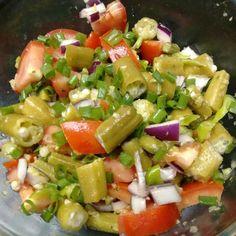 Receita de Salada de quiabo. Enviada por Greice da silva do Nascimento e demora apenas 25 MIN.