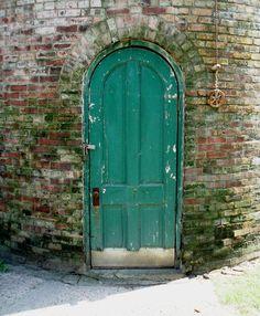 Old, worn door.