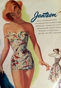 Vintage swimsuit...love the matching over-skirt!