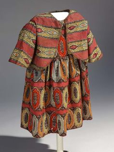 In April 1861 President Lincoln ordered a naval blockade of Southern ports to prevent the largely agricultural Confederacy from importing much-needed military and civilian goods. This English block-printed child's dress with jacket arrived in NC onboard a blockade-runner in 1864. #civilwar #textiletuesday #ncmuseumhistory