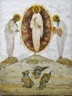 Transfiguration, original print on natural canvas and stretcher of modern icon, made by Ivanka Demchuk Painter Artist, Artist Painting, Painting & Drawing, Christian Artwork, Jesus Art, Biblical Art, Byzantine Icons, Art Icon, Orthodox Icons