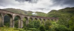 The Jacobite at the Glenfinnan Viaduct - null