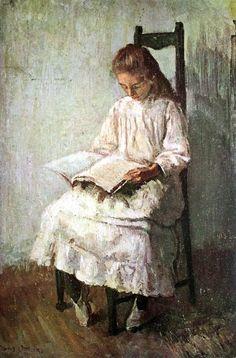 Frans Oerder: Meisje wat lees (Girl reading)