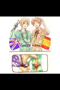 England & Spain - Hetalia<<<Rivals even to this day it seems~