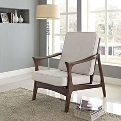 PADDLE LOUNGE CHAIR IN BROWN - Mocofu