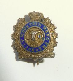WW2 Tiny Rocky Mountain Rangers Pin Enamel Lapel Badge Canadian Army Kamloops BC in Collectibles, Militaria, WW II (1939-45) | eBay