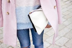 Pastels and ripped jeans