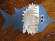 Shark Paper Plate Craft