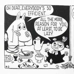 Moomin comic strips by Tove Jansson