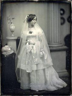 Victorian Wedding Dresses: 27 Stunning Vintage Photographs of Brides Before 1900 ~ vintage everyday