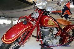 Indian Motorcycle at Lyon Air Museum, Irvine CA, © Richard J Bauman