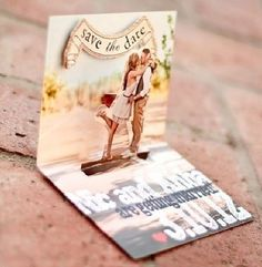 Pop up Save The Date card. Coolest save the date ever! Coolest Invitation ever! Wedding Save The Dates, Save The Date Cards, Our Wedding, Dream Wedding, Wedding Blog, Wedding Pins, Fall Wedding, Trendy Wedding, Luxury Wedding