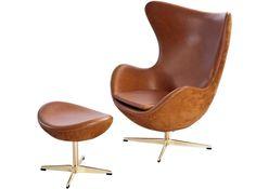 Egg Chair by Arne Jacobsen Nubuck (Anniversary Collector Replica)