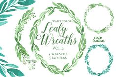 Eucalyptus Watercolor Leaves Clipart, Green Floral Wreath, Leaf Frame, Foliage, Watercolour background, Garden wedding, Winter, olive wreath