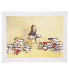 Roald Dahl Matilda 11'' x 14'' Art Print