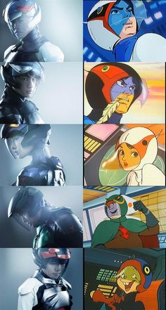Famed Japanese anime Science Ninja Team Gatchaman is coming to the big screen. And it's bringing new Gatchaman suits with it. Superhero Suits, Superhero Movies, Comic Books Art, Comic Art, Manga Anime, Battle Of The Planets, Japanese Superheroes, Japanese Monster, Manga Comics