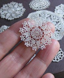 mini crochet doilies-could be stiffened & used for snowflakes...beautiful on a Christmas tree