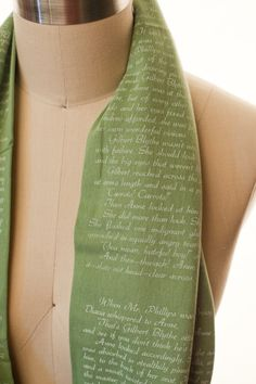 Anne of Green Gables Book Scarf by storiarts on Etsy