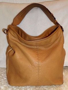 668718a4ce Liz claiborne big natural leather soft pebble slouchy hobo handbag satchel  purse