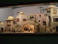 Nativity House, Christmas Nativity Scene, Fontanini Nativity, Christmas Art Projects, Dickens Village, Ceramic Houses, Stage Set, Slums, Miniature Houses