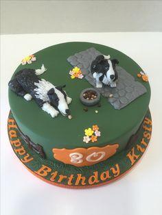 Collie Dog Cake - July 2016