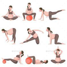Prenatal Yoga Poses, Prenatal Workout, Pregnancy Health, Pregnancy Care, Pregnancy Belly, Pregnancy Cravings, Pregnancy Clothes, Pregnancy Advice, Pränatales Training