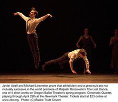 The Lost Dance; Chromatic Quartet 1 by Oregon Ballet Theatre, Javier Ubell Michael Linsmeier