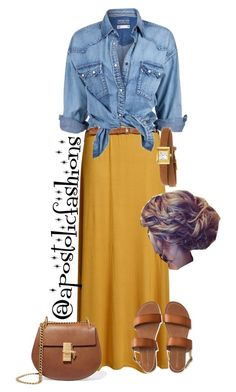 """""""Apostolic Fashions #1770"""" by apostolicfashions on Polyvore featuring Soul Cal, Aéropostale, Gucci and Chloé"""