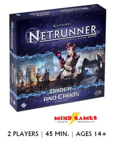 "Android: Netrunner Order and Chaos Expansion poses the question, where is humanity headed? Jack Weyland wants to take us to the stars, but what will be the cost of his efforts?  ""Humanity is all about humans. People with lives and families. People who sometimes make mistakes but still have the potential to make the world a better place. People sometimes need second chances. Corporations say they're advancing the cause of humanity, but they don't know people."" – Valencia Estevez"