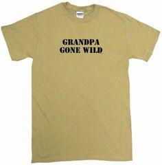 Grandpa Gone Wild Mens Tee Shirt XL-Tan