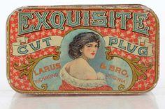 Antique tobacco tin