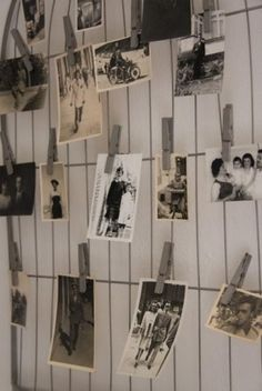 display old photos on crib springs