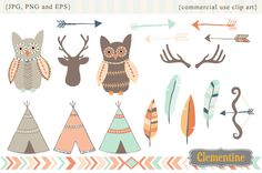 Tribal clip art by Clementine Digitals on Creative Market