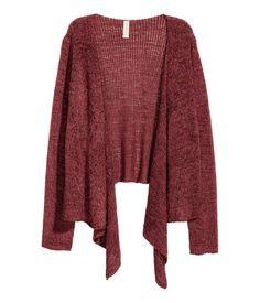 Draped Cardigan | Dark brick red | Women | H&M US