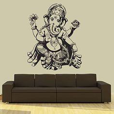 Amazon.com - Wall Decal Vinyl Sticker Decals Art Decor Design Elephant Ganesh Indian Buddha Lotos Om God Tribal Pattern Yoga Bedroom Dorm (r669) -