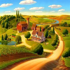 Summer On The Farm by Robin Moline