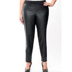 Lane Bryant Pants & Jumpsuits | Lane Bryant Faux Leather Front Comfort Skinny Pant | Poshmark Legs Open, Skinny Pants, Lane Bryant, Pant Jumpsuit, Perfect Fit, Jumpsuits, Thighs, Leather Pants, Pants For Women