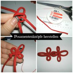 a step by step tutorial how to create a possament button embroidery