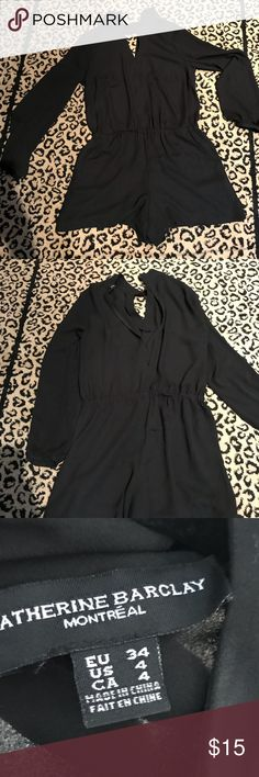 💗Katherine Barclay (Montreal)adorable romper 💗 Adorable and very detailed all around romper  EUC no rips or stains  Elastic waistband with pockets and zip back Katherine Barclay Dresses Long Sleeve